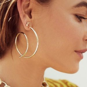 Kendra Scott Myles Hoop (Large Version) Earrings